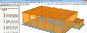 3D model of the gym in RFEM (© Studio Ergodomus)