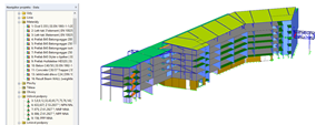3D-model budovy A v RFEM (© DBC AS)