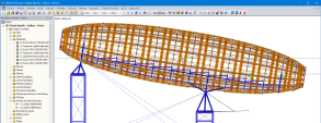 RFEM Model of Wooden Airship 'Gulliver' Above DOX Centre in Prague, Czech Republic