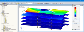 RFEM model of five-story timber passive house in Friedrichshafen, Germany