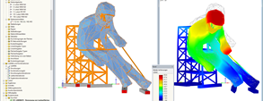 RFEM Model of Wooden Sculpture Edy in St. Moritz, Switzerland