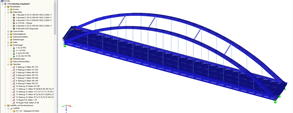 RSTAB model of Güsen road bridge B 10 over Elbe-Havel Canal, Germany (© grbv)
