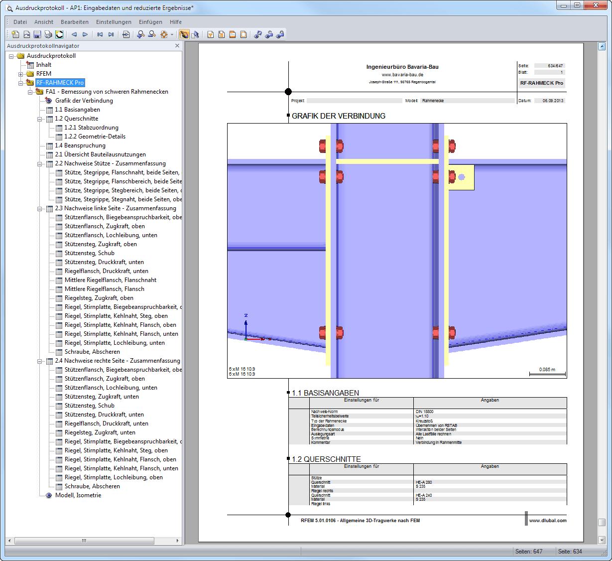 Rahmeck pro eckverbindungen f r rahmen nach ec 3 dlubal for Statik rahmen berechnen