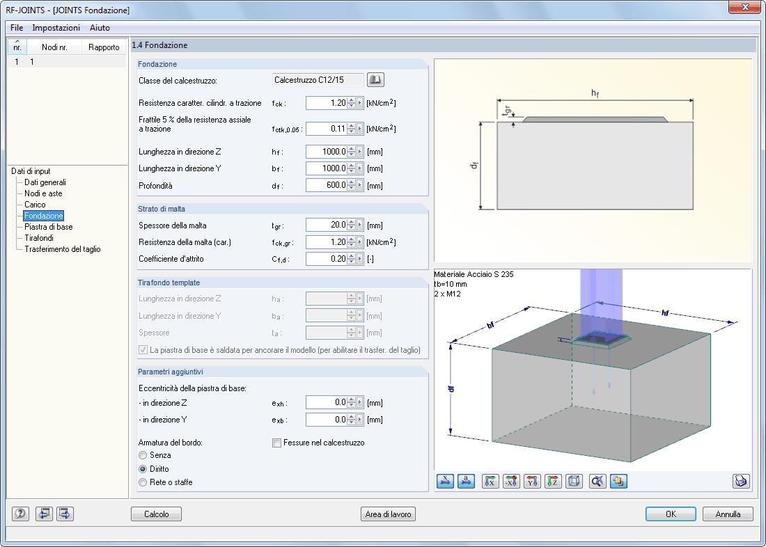 Rf joints steel column base progettazione di giunti for Software di progettazione domestica personalizzato