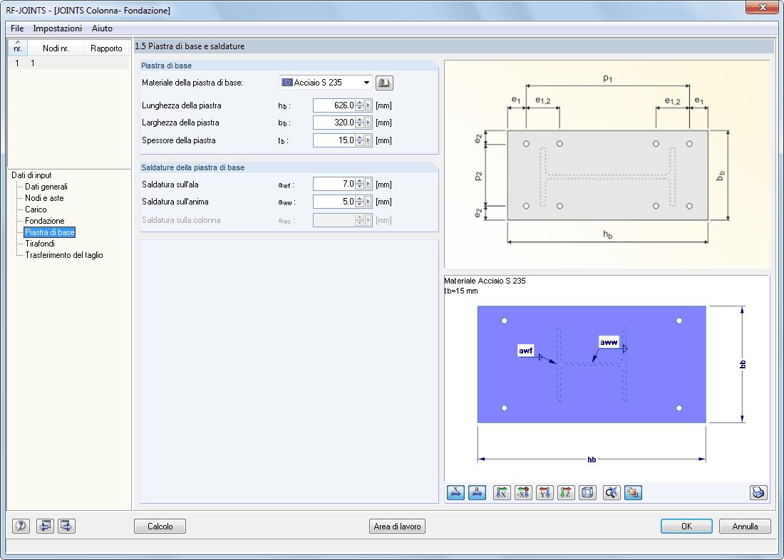 Rf joints steel column base progettazione di giunti for Software di progettazione di case di base