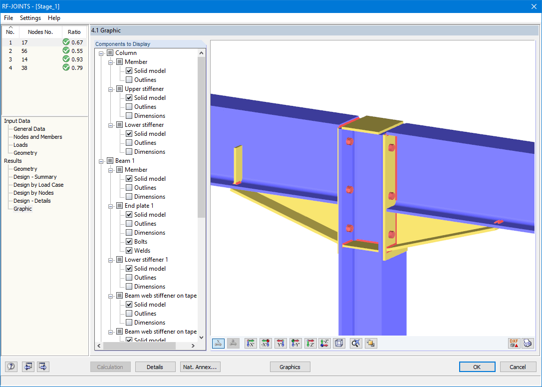 Joints Steel Rigid Joints According To Ec 3 Dlubal Software