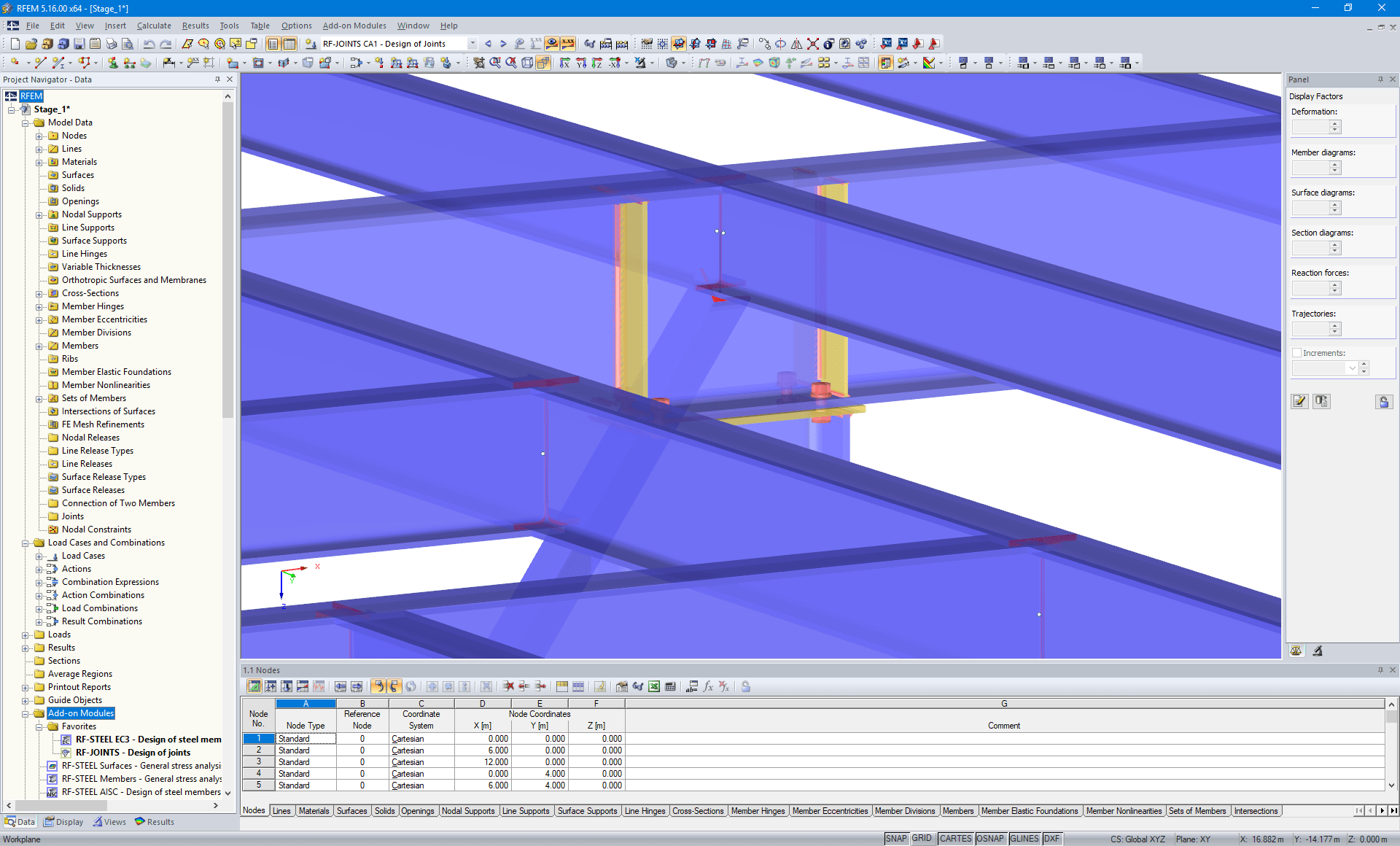 Visualization of Beam-Column Connection in RFEM