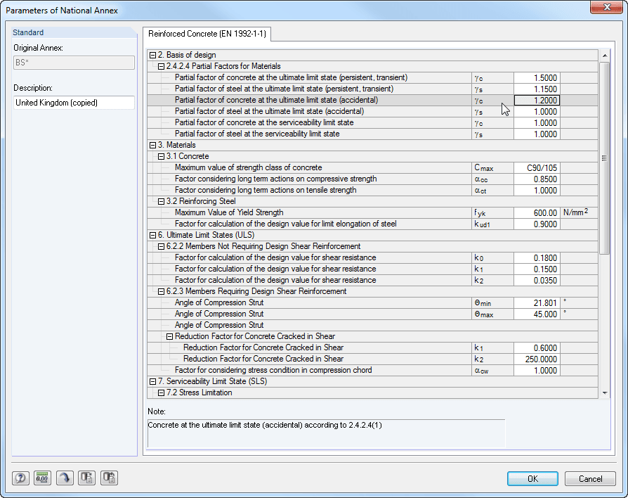 Possibility for user-defined standard settings