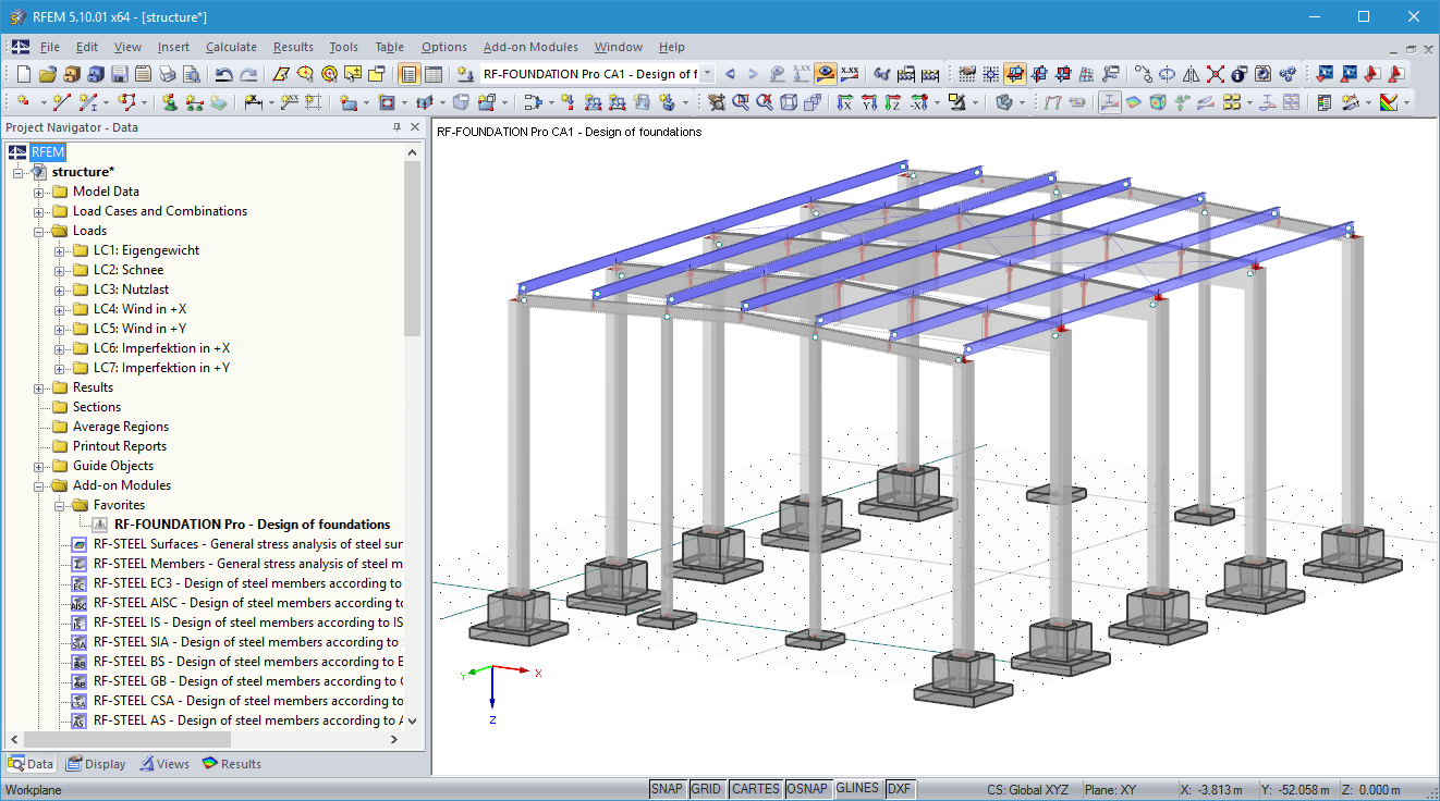 Foundation in 3D rendering in RFEM