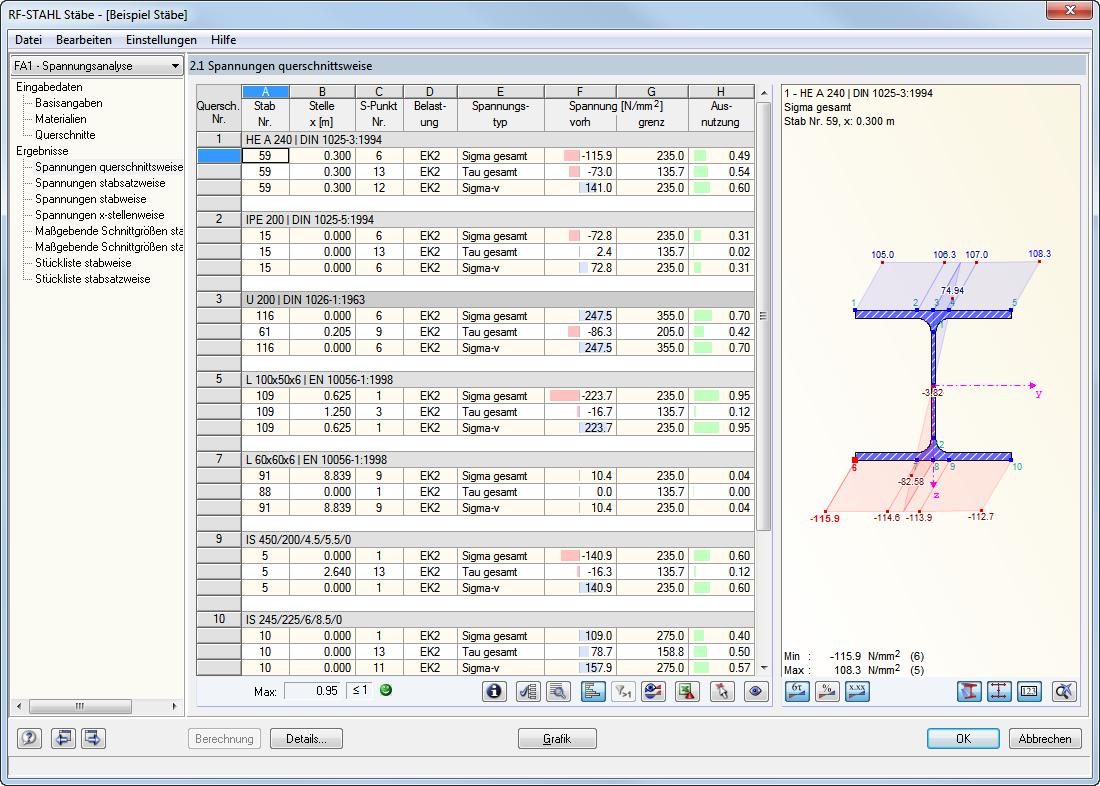 Stahl allgemeine spannungsanalyse von st ben dlubal for Finite elemente analyse fur ingenieure pdf