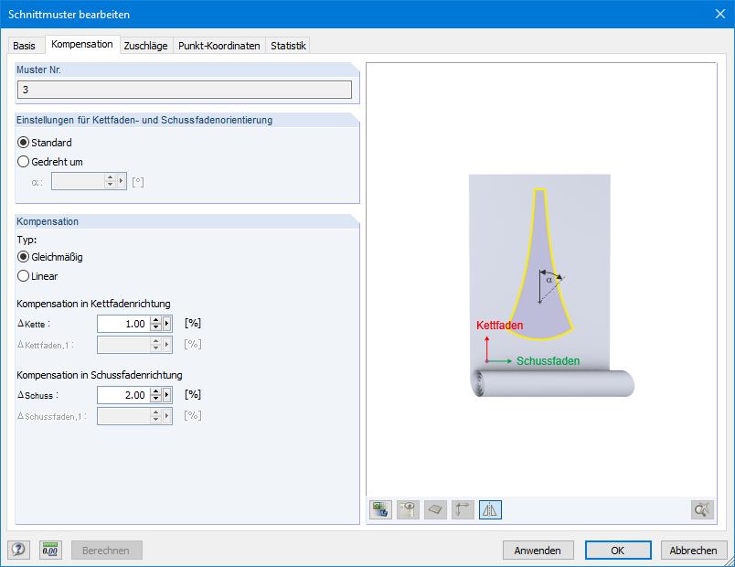 RFEM-Zusatzmodul RF-ZUSCHNITT   Dlubal Software