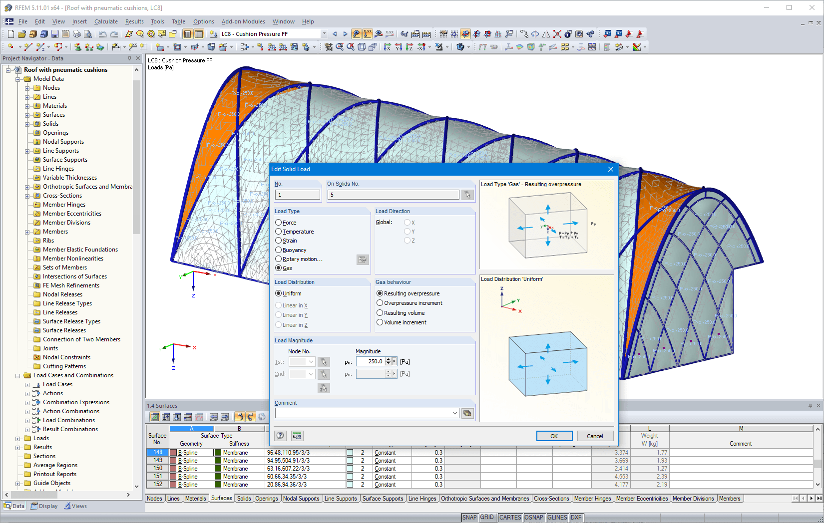 Option to export FE mesh as DXF or Excel file