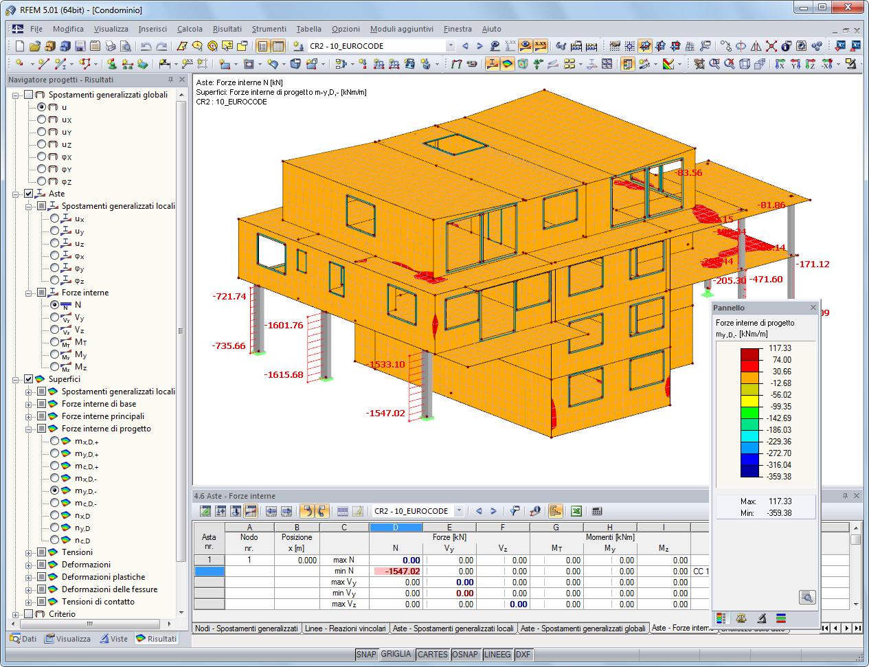 Rfem programma di analisi e progettazione strutturale fem for Programma progettazione