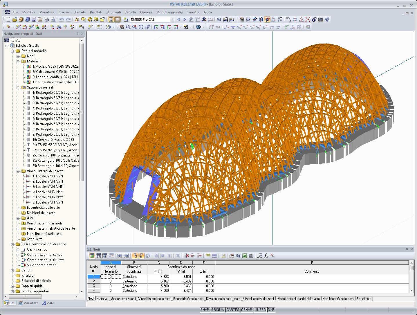 Rstab software per l 39 analisi strutturale e per la for Costruzione di software per piani di lavoro