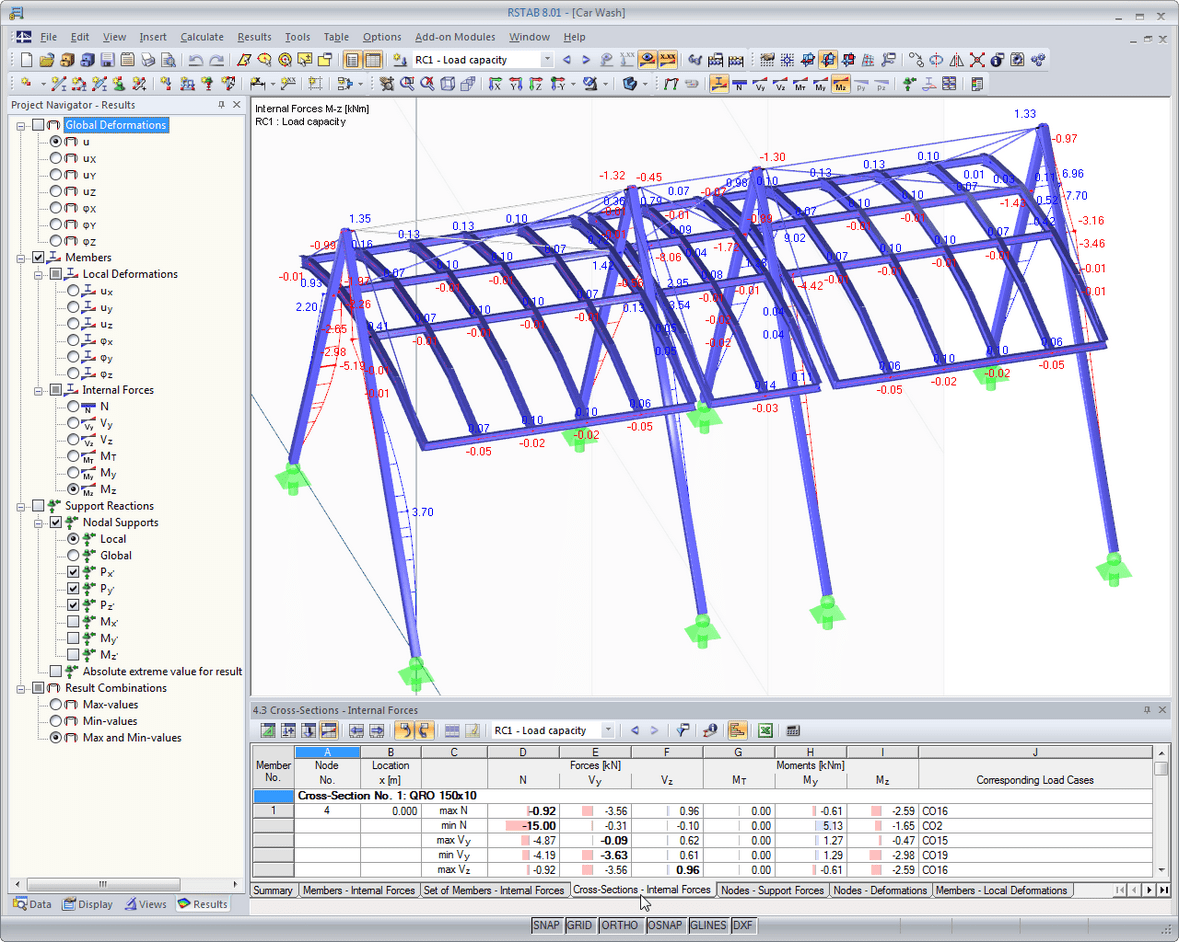 Rstab structural analysis software for frames and trusses Roof drawing software