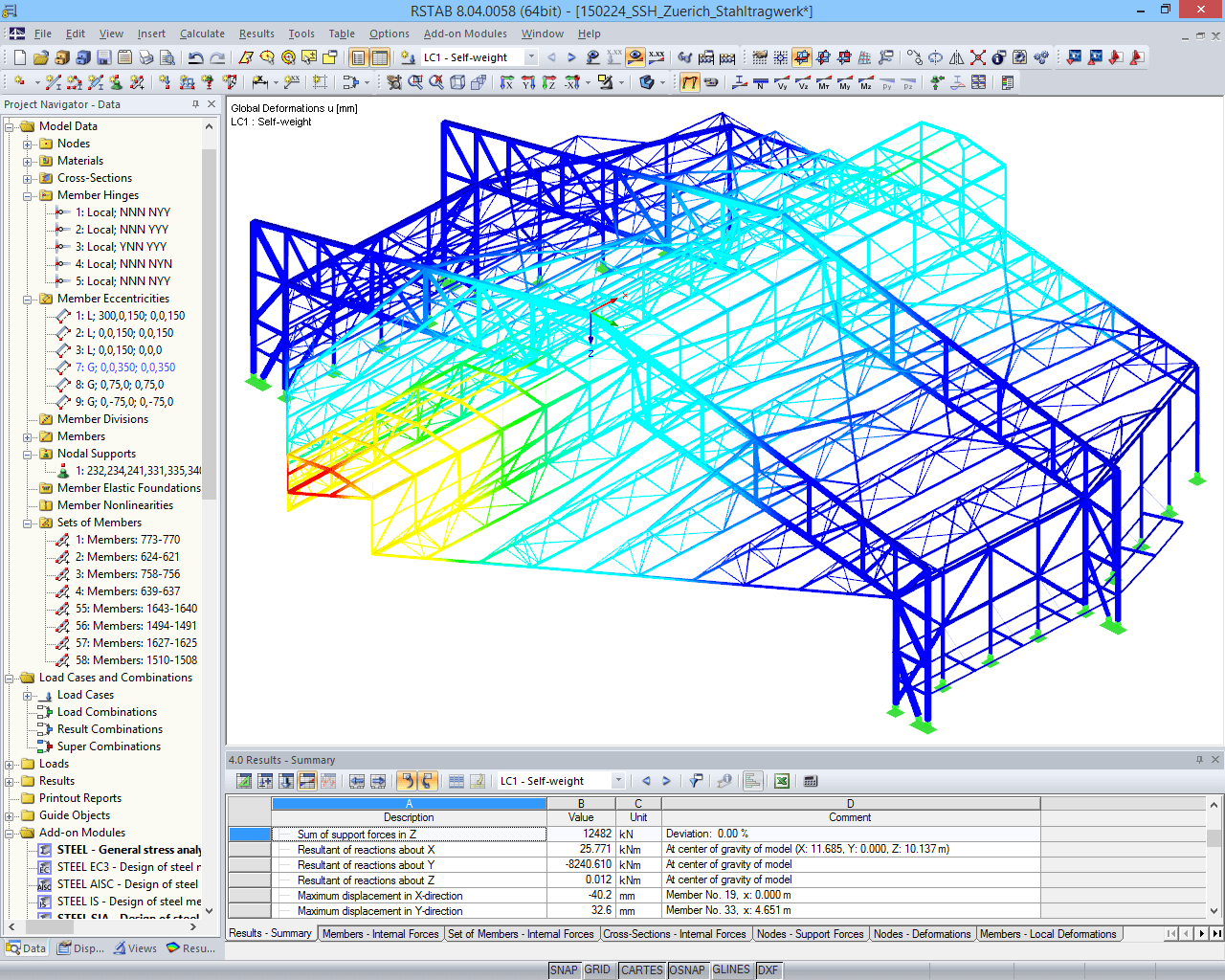 Designed framework model of noise protection hangar (C) www.wtm-engineers.de