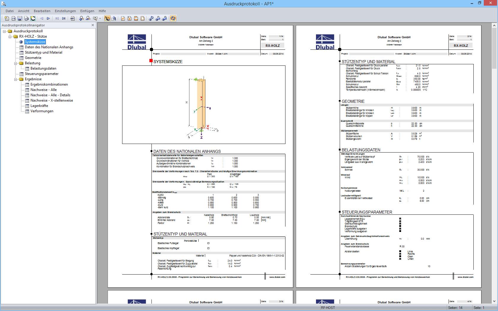 Rx holz st tze bemessung von holzst tzen dlubal software for Finite elemente analyse fur ingenieure pdf
