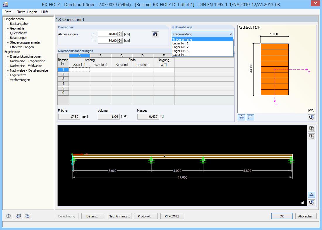 Rx holz dlt bemessung von durchlauftr gern dlubal software for Finite elemente analyse fur ingenieure pdf