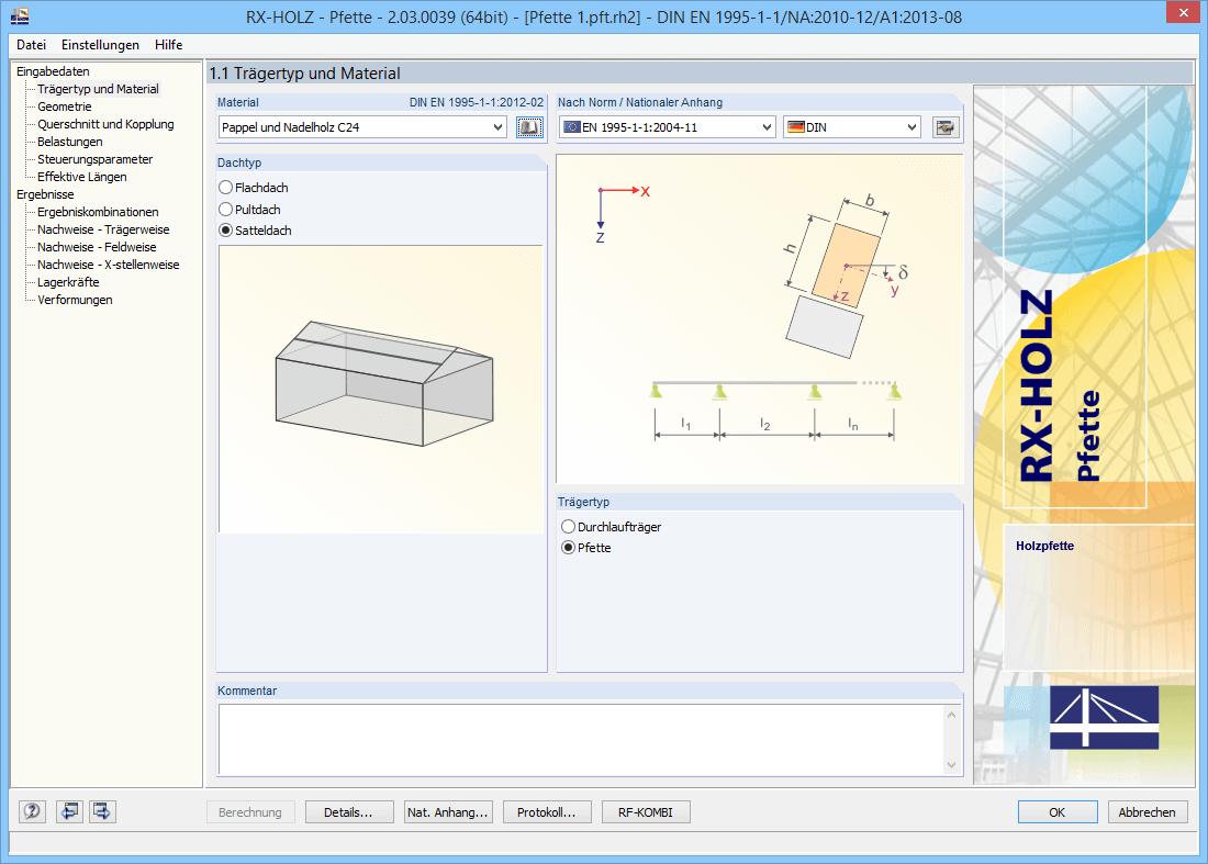 Rx holz pfette berechnung von koppelpfetten dlubal software for Finite elemente analyse fur ingenieure pdf