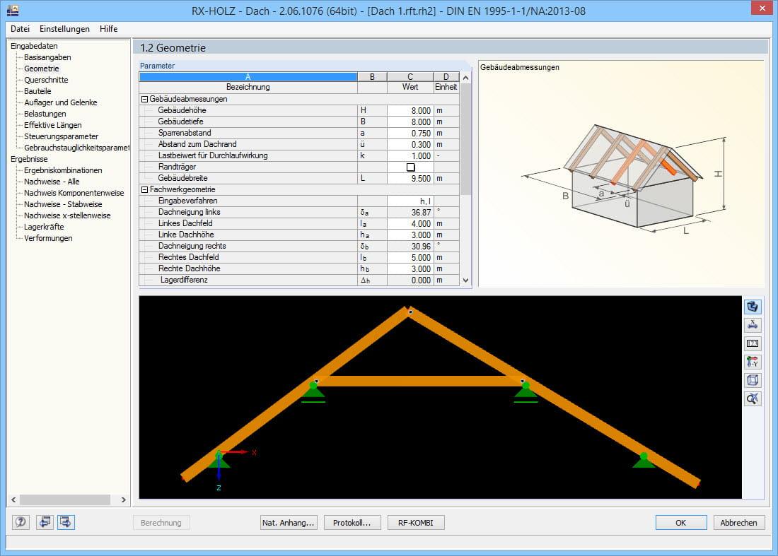 Rx holz dach bemessung von d chern aus holz dlubal software for Finite elemente analyse fur ingenieure pdf