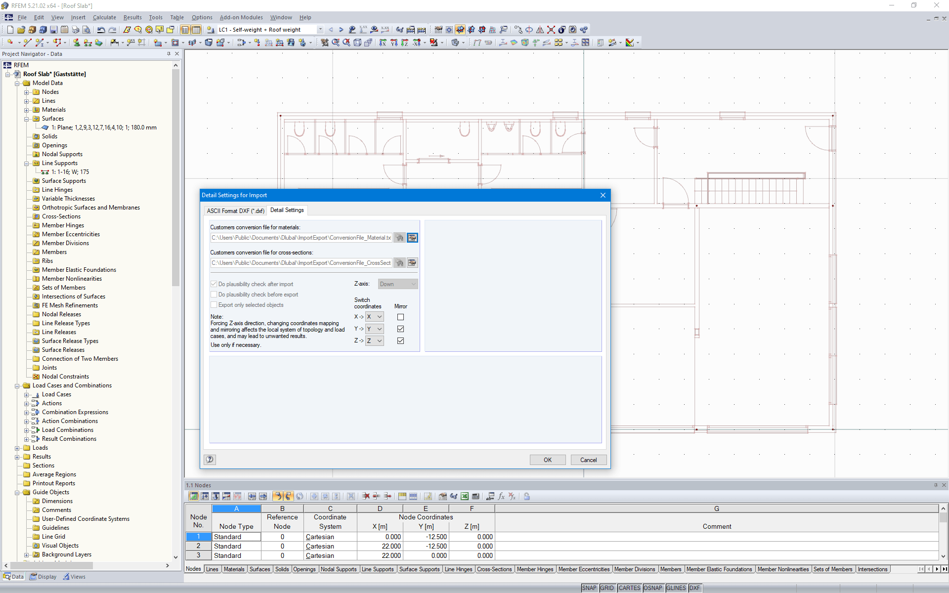 Importing Floor Plan as Background Layer in RFEM