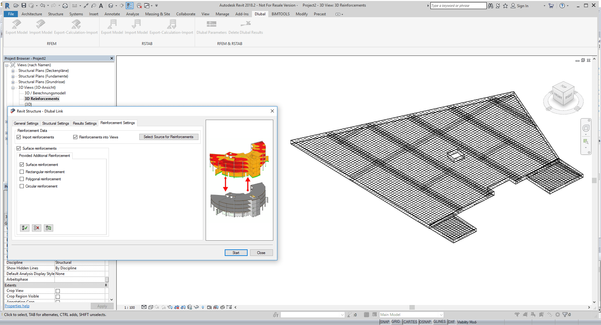 Exported reinforcement in Revit