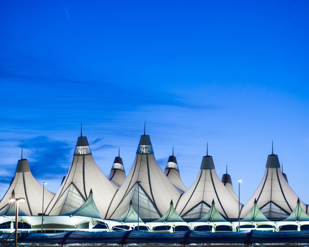 Tent structures at the Denver International Airport