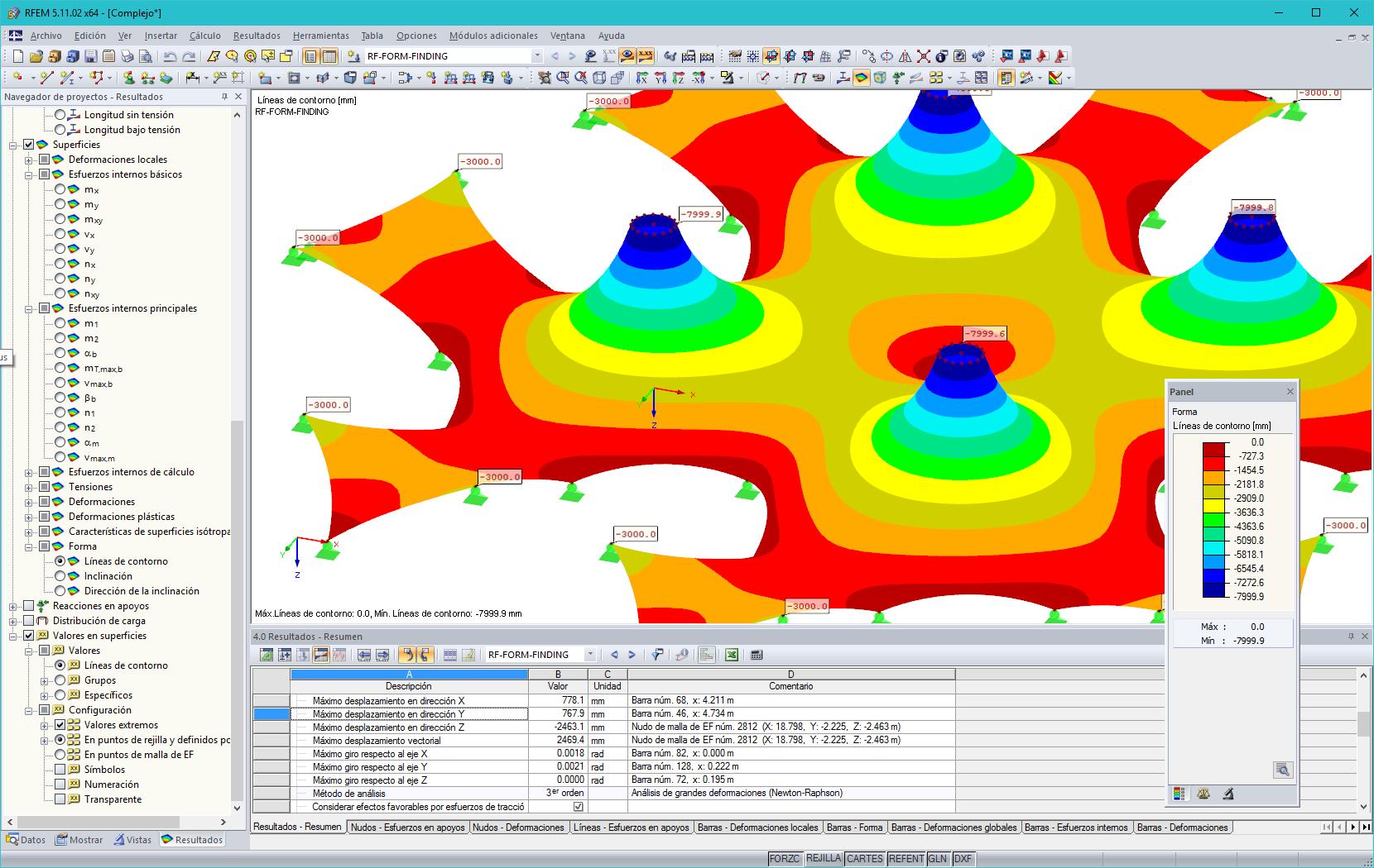 Cálculo de membranas tensadas y arquitectura textil | Dlubal Software