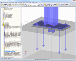 RFEM visualization of footing from RF-JOINTS Steel - Column Base