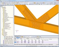 RF-JOINTS Timber - Steel to Timber: Joint visualization in RFEM