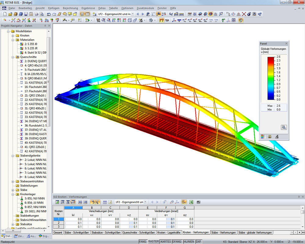 Railway bridge | Designed with RSTAB by Radoslav Dimitrov, student of civil engineering at TU Dresden/Germany