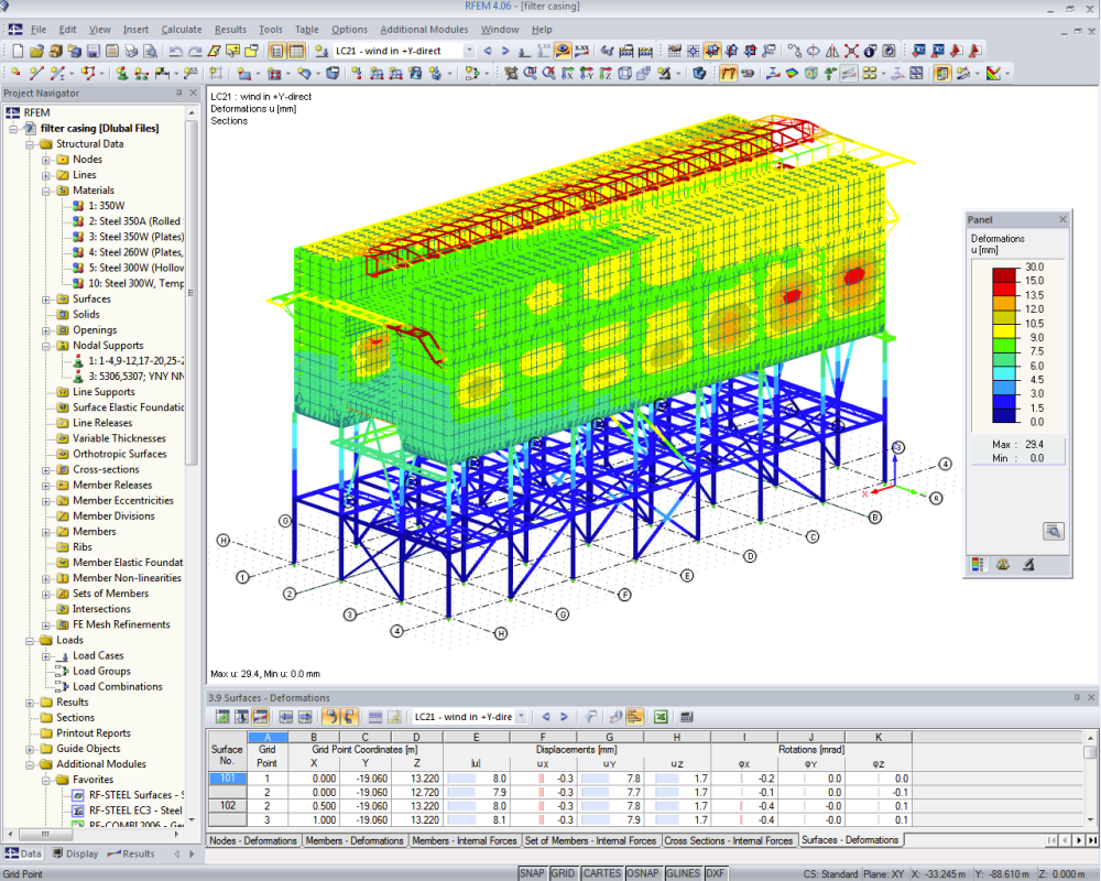 Filter plant in Medupi, South Africa | Designed with RFEM by Prof. Schmidt & Partner, Essen/Germany | www.p-s-p.de