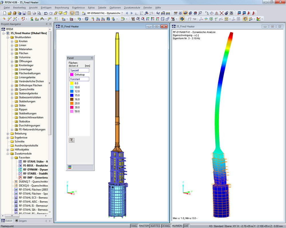 Fired Heater | Realisiert mit RFEM von Peter & Partner, Much |  www.ifs-peter-partner.de