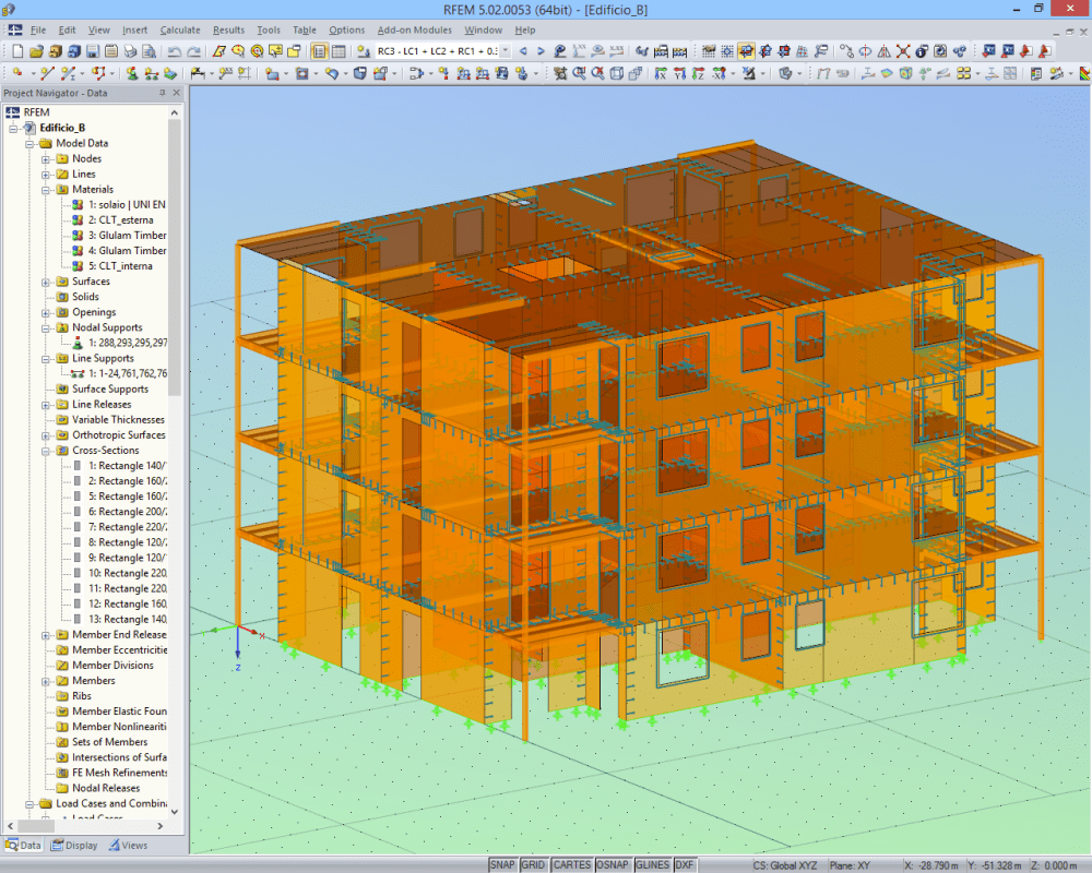 Laminate clt and sandwich structures dlubal software for Wood house design software