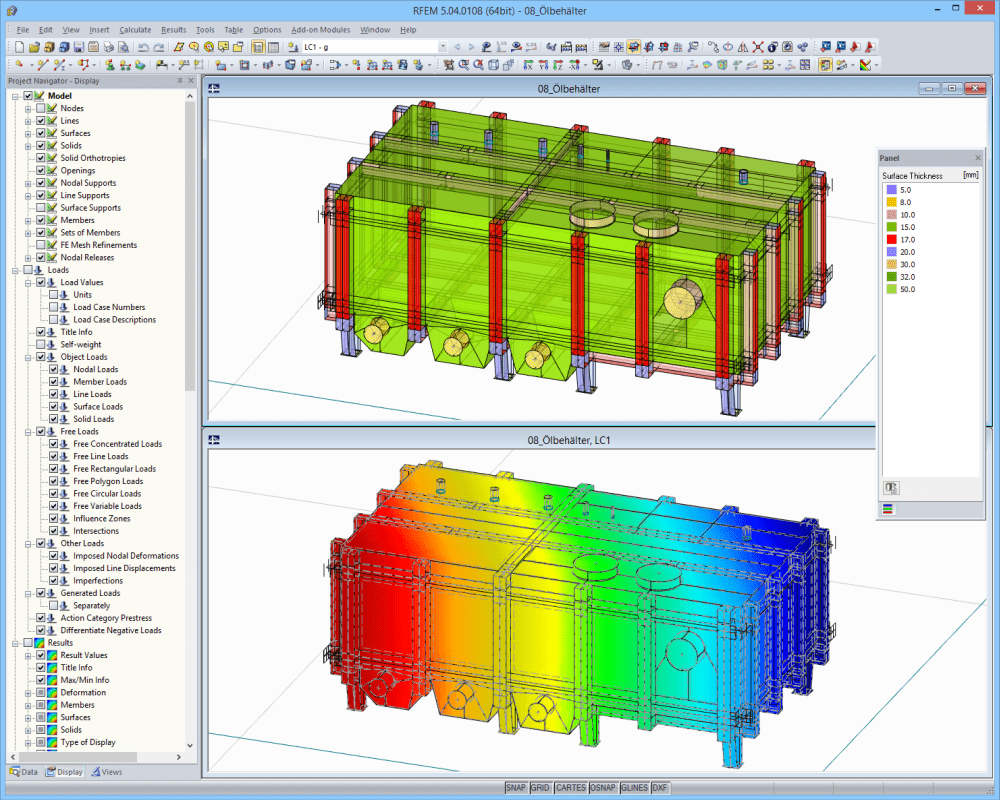 Oil Tank | Designed with RFEM by Peter & Partner, Much/Germany | www.ifs-peter-partner.de