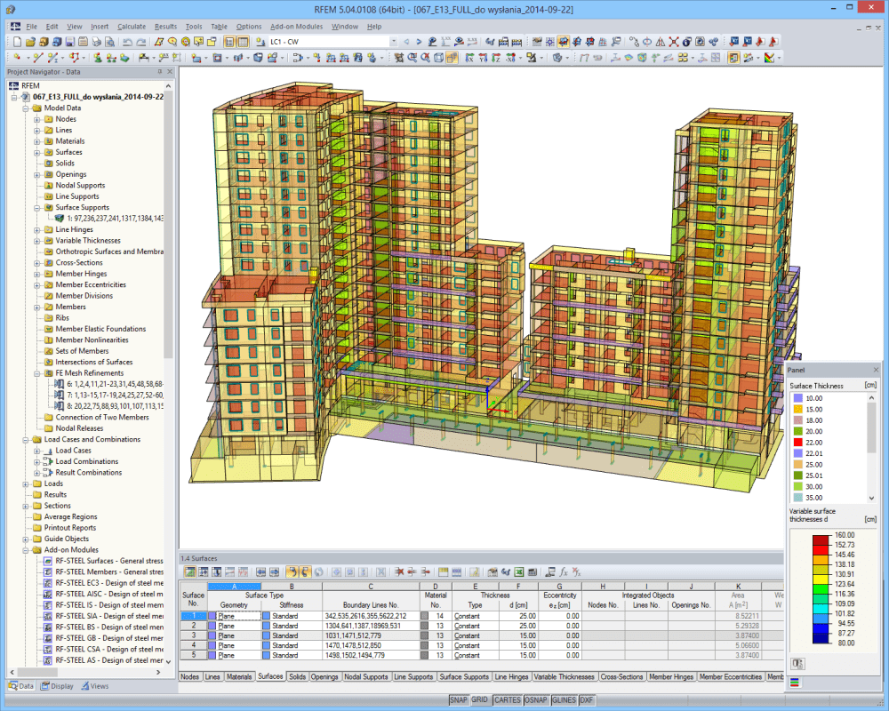 Multi-storey residential building with shops and underground garage | Designed with RFEM by MGM Konstrukcje Inżynierskie s.c. Krakow/Poland | www.mgm-ki.pl
