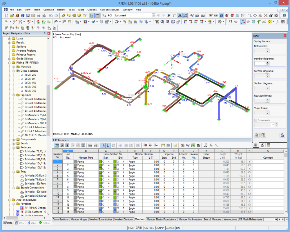 piping system in rfem - Piping Design Software Free