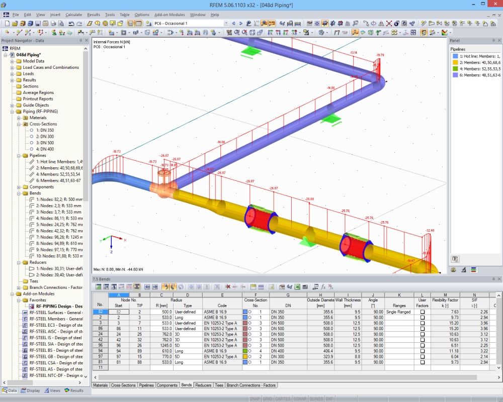 Result graphics in RFEM