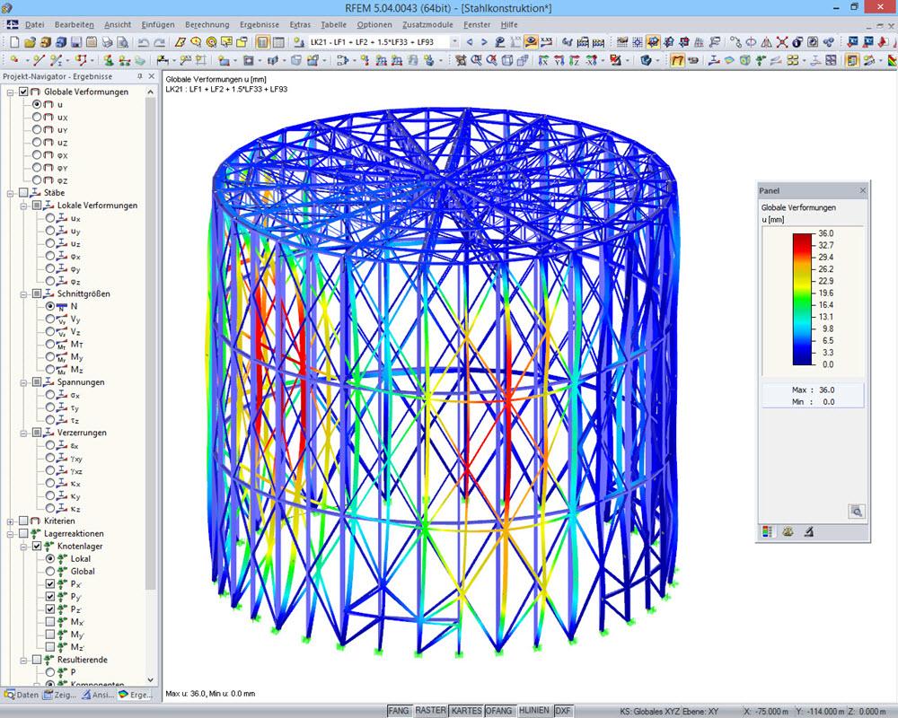 Finite elemente berechnung fem dlubal software for Finite elemente tragwerk