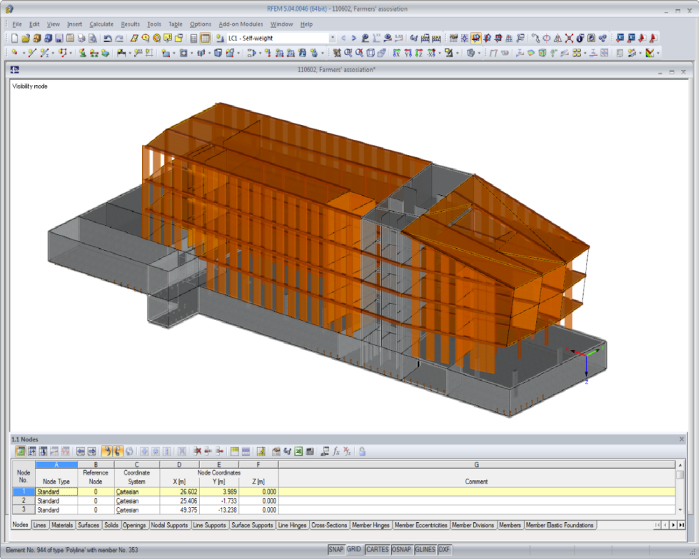 Timber structural analysis design dlubal software for Wood house design software