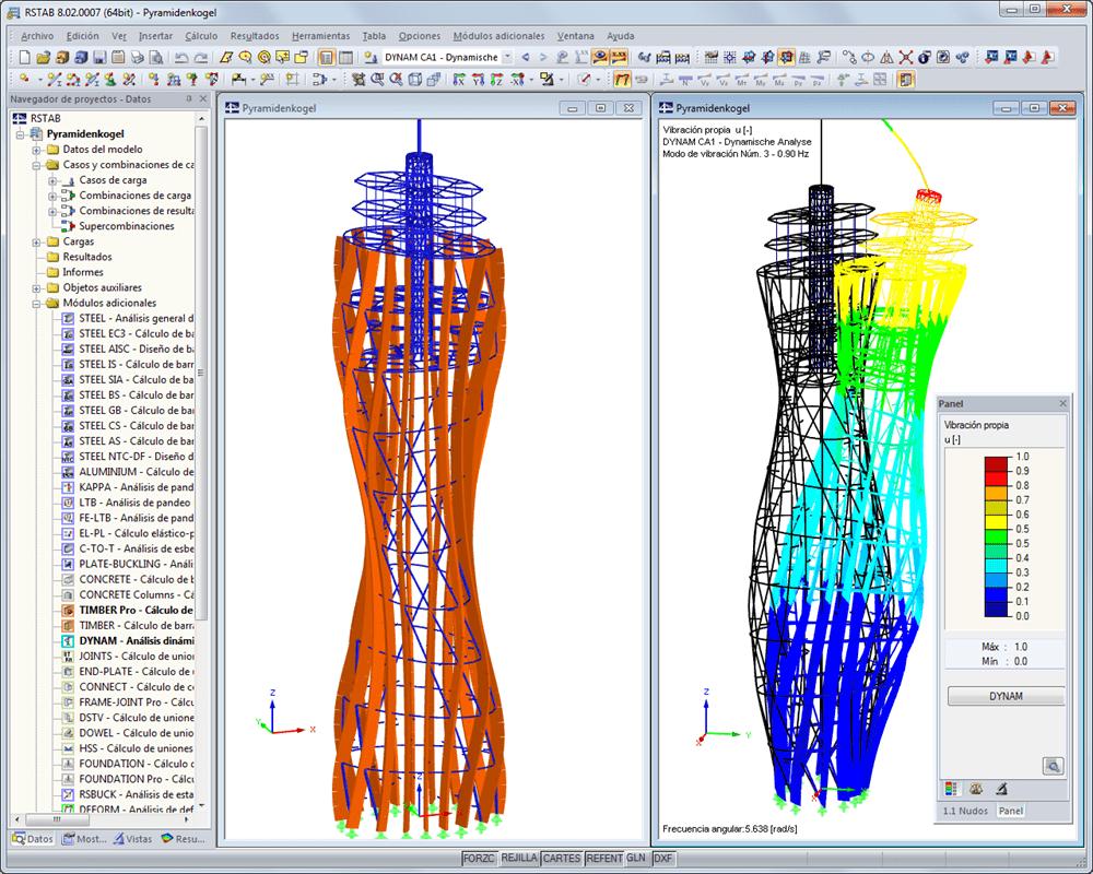 Análisis estructural dinámico y sísmico | Dlubal Software