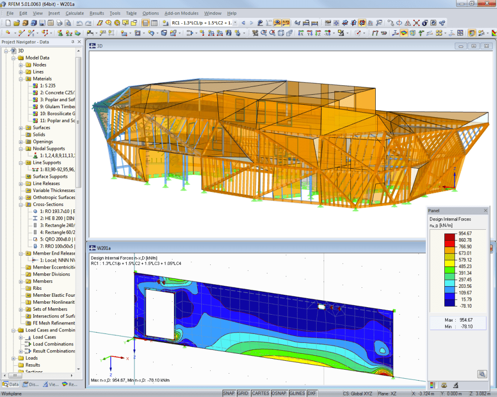 Wood carving workshop | Designed with RFEM by Lignaconsult Schrentewein & Partner GmbH, Bolzano/Italy | lignaconsult.net