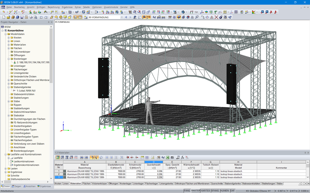 Statiksoftware für Aluminium- und Leichtbautragwerke   Dlubal Software