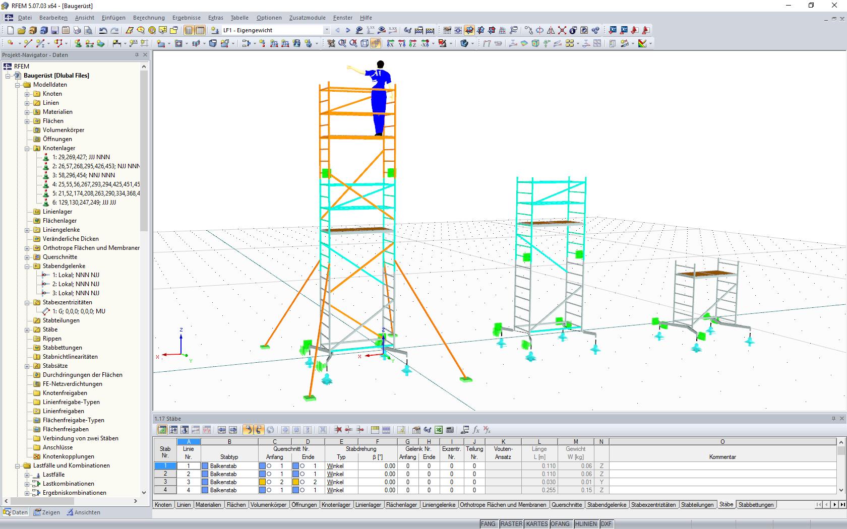 Sehr Statiksoftware für Gerüstbau und Regalbau | Dlubal Software LV72