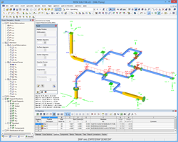Internal forces of the piping analysis in RFEM