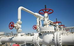 Oil and gas pipelines with valves