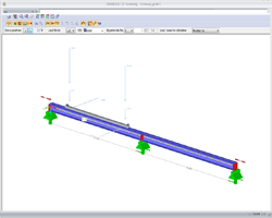 Suspension crane in the Dlubal structural analysis program CRANEWAY