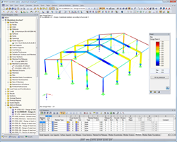 Aluminium hall structure in RFEM