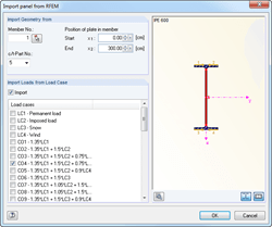 Import buckling panel from RFEM