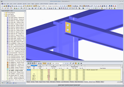 Visualization of a fin plate connection in RFEM